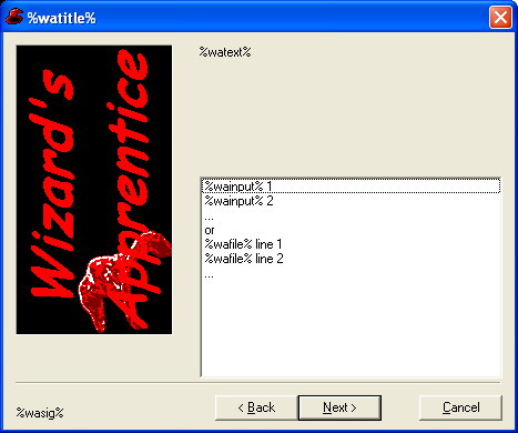 Screenshot of a dialog with a multiple-selection listbox